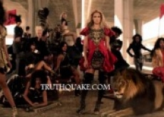 "Beyonce Posts Full ""Run the World (Girls)"" Video: Crucified Woman; Abused Animals; Communist Armies, Nazis & Hiroshima Bomb Removed – Watch"