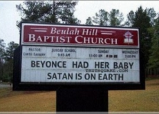 NC Church Declares Beyonce's Baby Satan on Earth