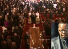 Whitney Houston's Funeral: Bobby Brown Walks Out