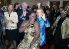 Hillary Clinton's Lesbian Booty Dance Honors $46 Million to Africa While U.S. Poverty Grows – Video