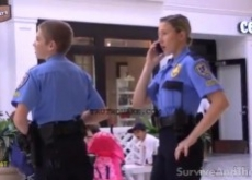 Youth Security Cop Force Patrols Malls – Video: Occupy Watch