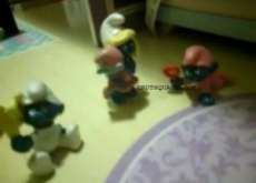 Smurfette Puts the Smackdown on Papa Smurf – Joke Video