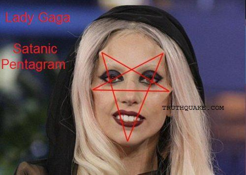 Shape of Satanic Pentagram; Is She Illuminati Reptilian Alien Hybrid