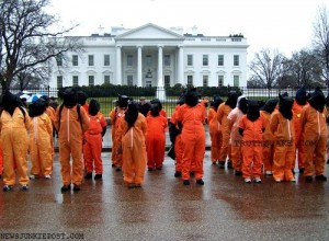 Amnesty International Protesting NDAA 2012 Law at White House and Obama and Congress Keeping Guantanamo Bay Prison Open