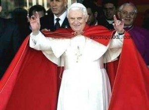 Pope Benedict XVI Making Alleged Representations of Malocchio Devil Evil Eye Curse with Hands; Some Believe He Is an Illuminati New World Order Member